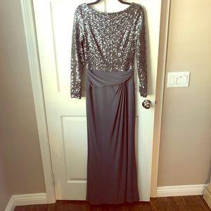 Lauren Ralph Lauren modest formal sequin gown